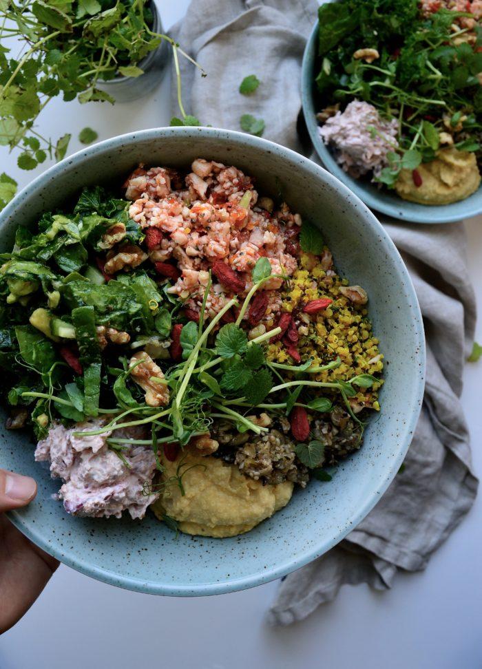 vegetarisk superbowl med supermat