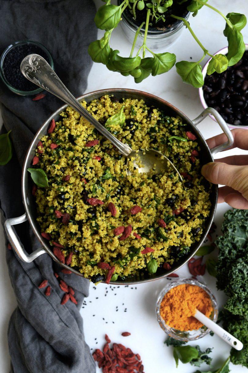 quinoa med gojibär