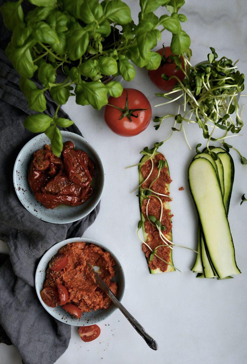 rullar med zucchini