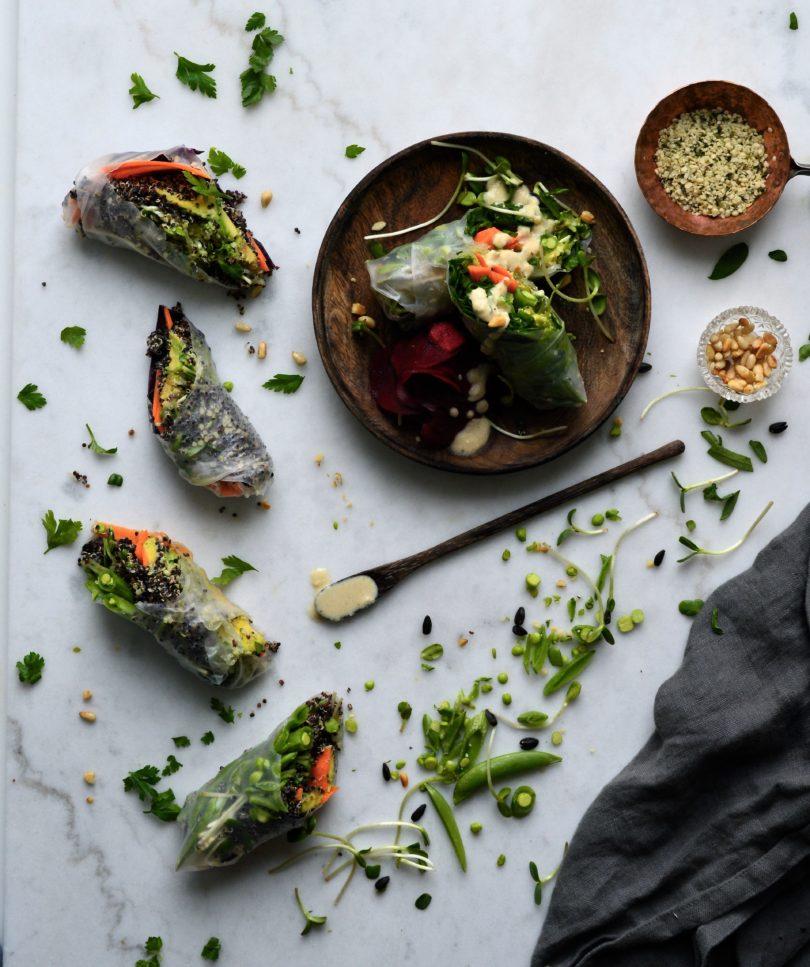 vegetariska springrolls