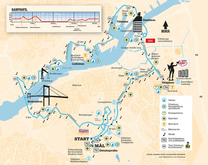 göteborgsvarvet karta Tips på bästa uppladdningen inför Göteborgsvarvet | Hälsoboosten göteborgsvarvet karta