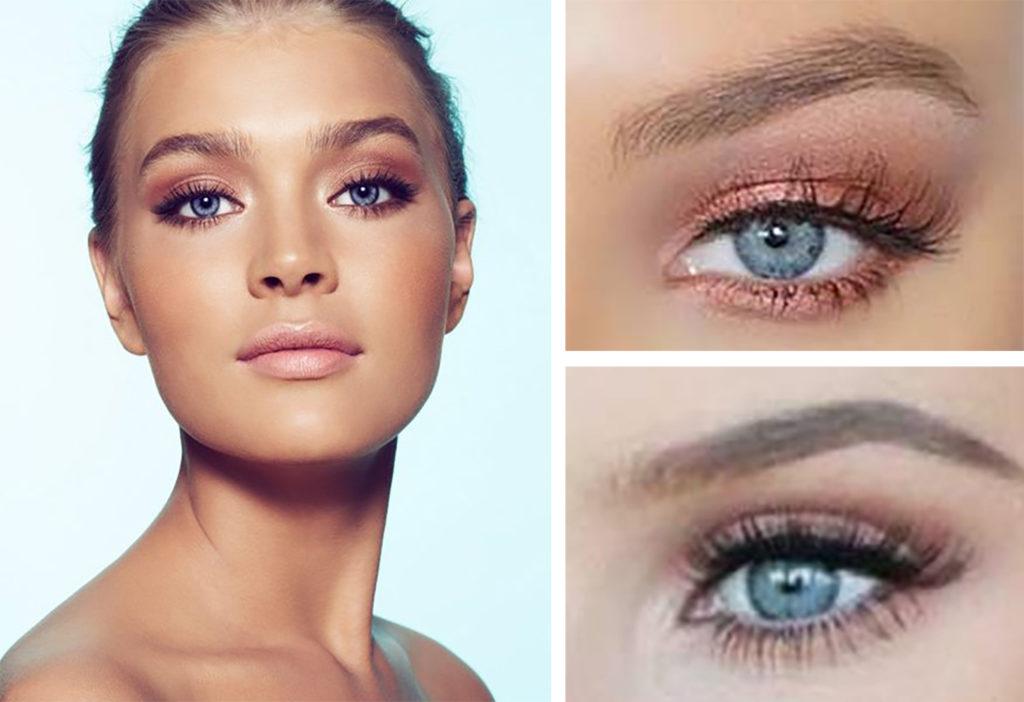 sminkning gröna ögon