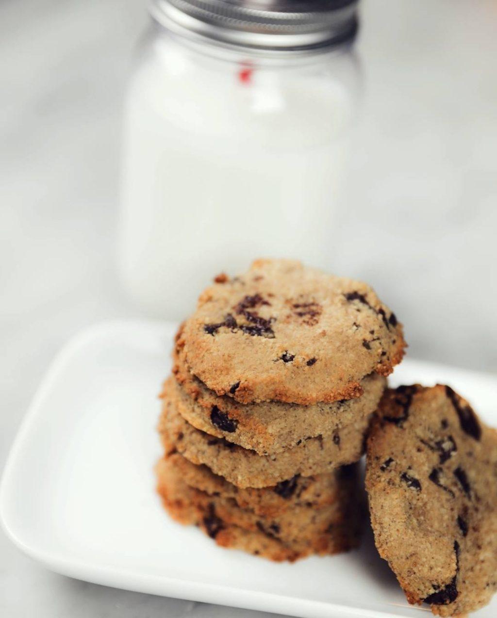 nyttiga chocolate chip cookies