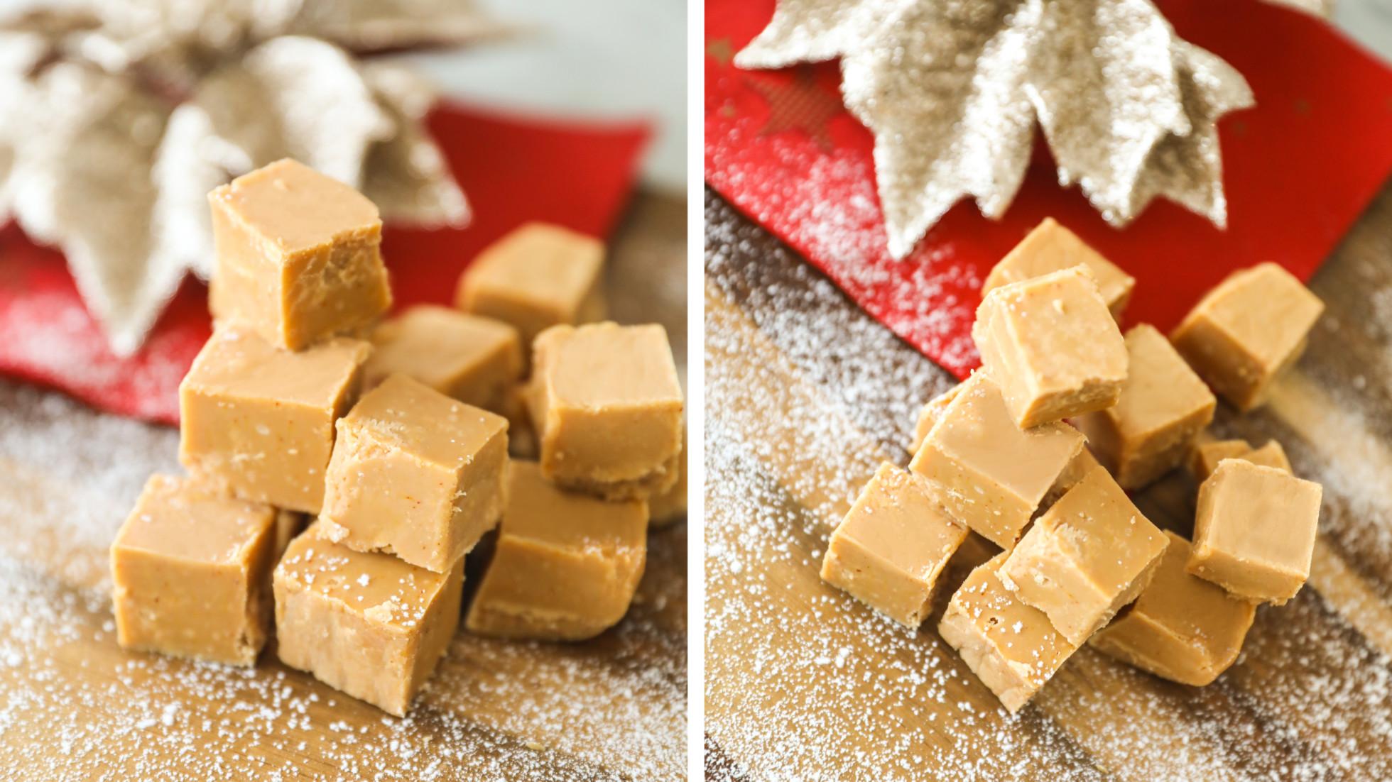 Saffransfudge med vit choklad