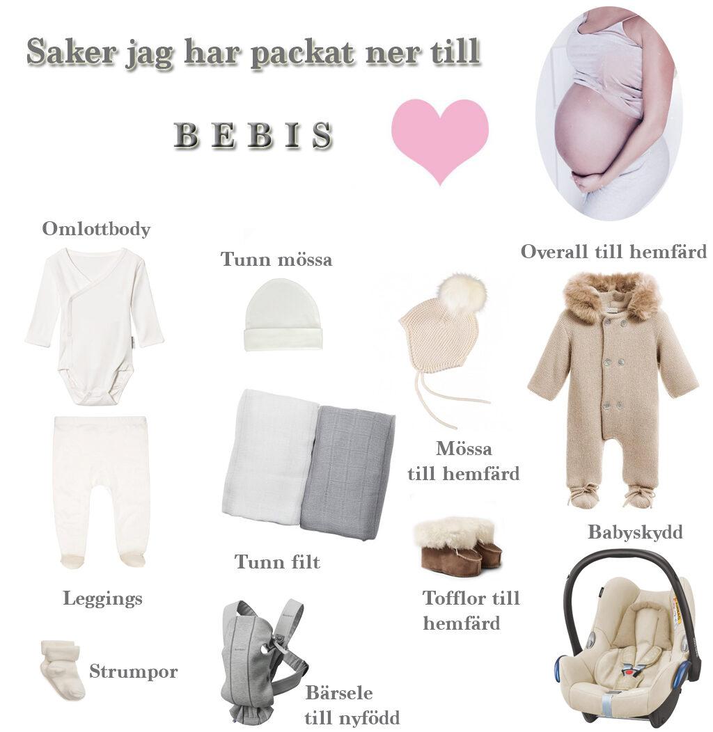 PACKA NER I BB VÄSKAN – LISTA | Laila