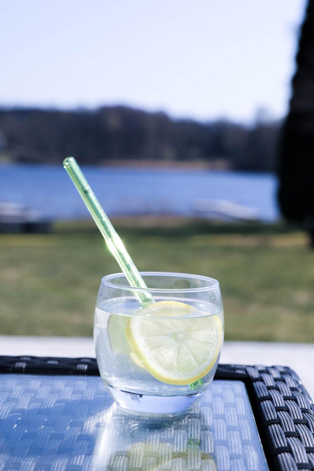 citronvatten med ingefära