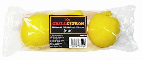 ICA Grillcitron Vikt 575 EAN 7318690119920