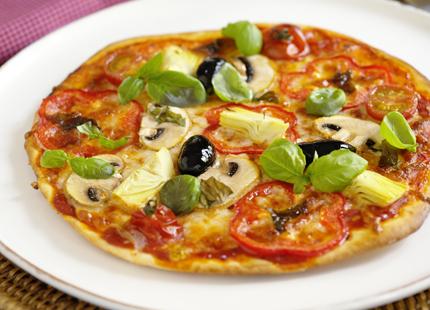 nyttig hemmagjord pizza