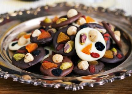 Recept på frukt- och nötchoklad
