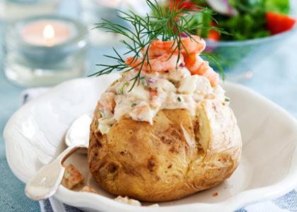 snabb bakad potatis