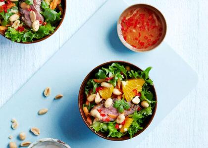 asiatisk dressing sallad