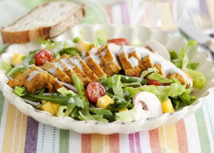 kalorier i kycklingsallad