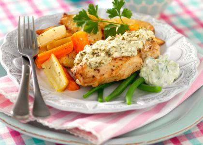 kalorisnål kyckling recept